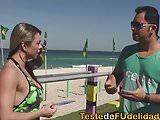 Personal trainer comendo a carioca gostosa