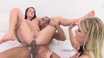 Sexo anal com loira deliciosa dando o cu