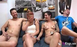 Casais liberais fazem um vídeo de sexo incrível