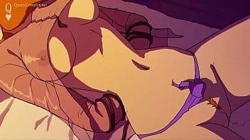 Cartoon porn com branquinha sendo comida pelos monstros