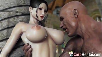 Hqs de sexo 3D com peituda levando vara